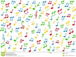 Lorful Music Notes White Lorful Music Notes   Wallpaper Backgrounds