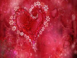 Love Heart Slides Backgrounds
