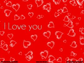 Love You  Red Heart Backgrounds