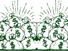 Money Bags Design Financial Backgrounds