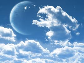 Moon Clouds image Backgrounds