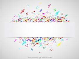 Music Notes Abstract Colorful Music Note Vector image Backgrounds