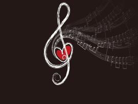 Music Notes Heart Art Hd Backgrounds