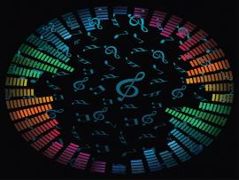 Music Notes Vector Template Backgrounds