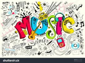 Music Stock Vector 92575492  Shutterstock Frame Backgrounds