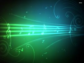 Musical Blue Music Notes  Photo Backgrounds