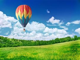 Natural Hot Air Balloons Photo Backgrounds