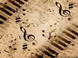 Natural Music Notes Wallpaper Backgrounds