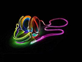 Neon Art Template Backgrounds