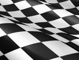 Neon Checkered Checkered Flag Slides Backgrounds
