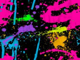 Neon Colors and Paint Splatter Picture Backgrounds