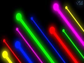 Neon Lights Slides Backgrounds