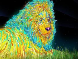 New Lion Psychedelic Hd Frame Backgrounds