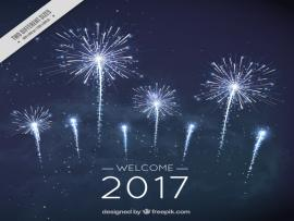 New Year Fireworks In Dark Blue Lor Vector  Free   Download Backgrounds