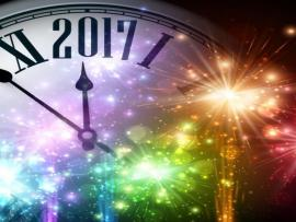 New Year With Spheres Clock Vector Template Backgrounds