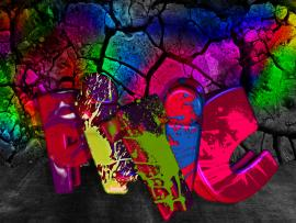 Night Club Graffiti Image Template Backgrounds