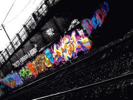 Night Train Route Graffiti Wallpaper Backgrounds