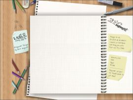 Notebook  PowerPoint For Free PowerPoint   Photo Backgrounds