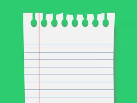 Notebook Paper Graphic  PowerPoint Quality Backgrounds