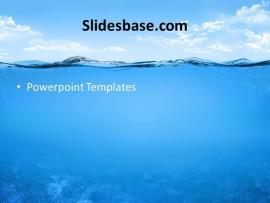 Ocean Fish Submarine Diving Dish Blue Template Slide1 (3 Presentation Backgrounds