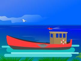 Ocean Fishing Design Backgrounds