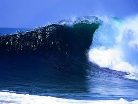 Ocean PowerPoint  Ocean Waves PowerPoint Template Ocean   Art Backgrounds