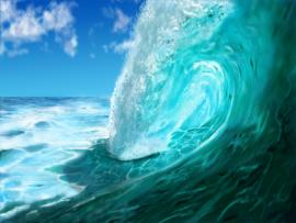 Ocean Wave Painted    Graphic Backgrounds