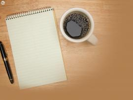 Office Coffee Pencil Notebook Desk Graphic Backgrounds