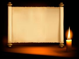 Old Paper Scrolls and Candle Design Vector 05 Vector Other    image Backgrounds