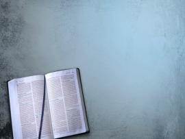 Open Bible and Blue Graphic Backgrounds