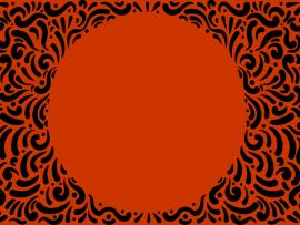 Orange Spiral Frame Backgrounds