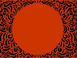 Orange Spiral Frame Backgrounds