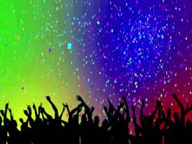 Party Crowd Silhouettes & Confetti HD  YouTube Frame Backgrounds