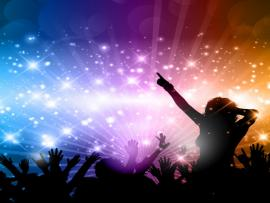 Party With People Silhoettes Vector  Free Slides Backgrounds
