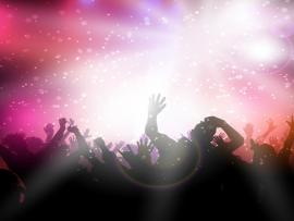 Party With Pink Lights Vector Backgrounds