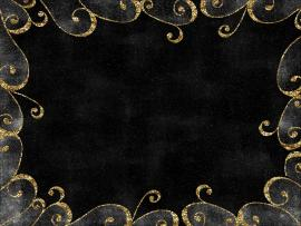 Photo Black With Gold Edge and Gold Trim Black Clip Art Backgrounds