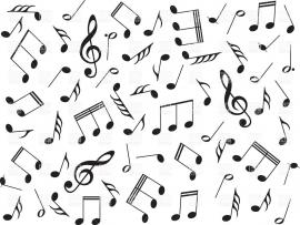 Pics Photos Music With Note Vector Frame Backgrounds