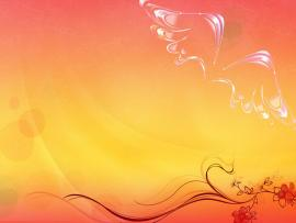 Pink Flower Free PPT Art Backgrounds