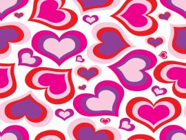 Pink Heart Pattern Backgrounds