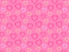 Pink Heart Template Backgrounds