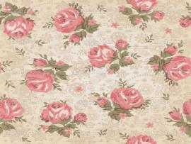 Pink Vintage Flowers Template Backgrounds