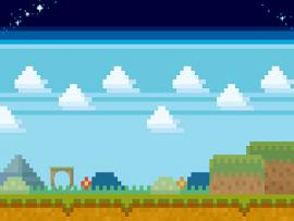 Pixel Art Game Example 320x200 Jpg Design Backgrounds