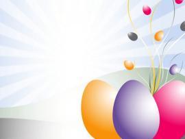 PPT Easter Eggs Clipart  3D Design  PPT Wallpaper Backgrounds