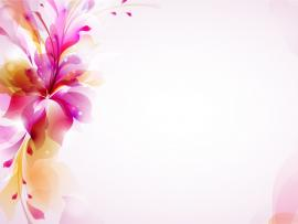 PPT Template  Flowers Orange Purple  PPT Graphic Backgrounds