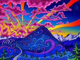 Psychedelic and Trippy Art Backgrounds