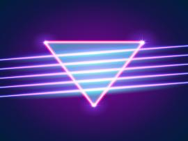 Purple 80s Neon Design Backgrounds