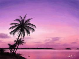 Purple Palm Trees image Backgrounds