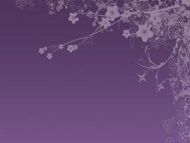 Purple Tree Branch For PowerPoint  Nature Design Backgrounds