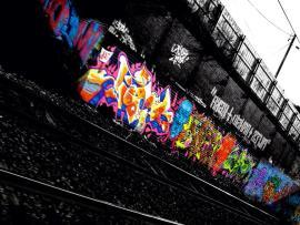 Railway Graffiti Image Frame Backgrounds
