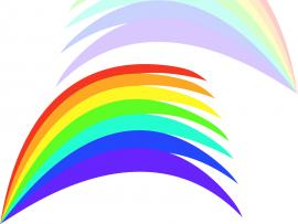 Rainbow Slides Backgrounds